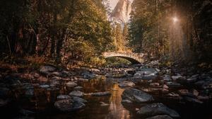 Bridge River Rock Usa 6144x4389 wallpaper