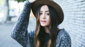 Jasmine Thompson Women Singer Brunette Long Hair Outdoors Urban Women Outdoors Women With Hats Sweat 1920x1080 wallpaper