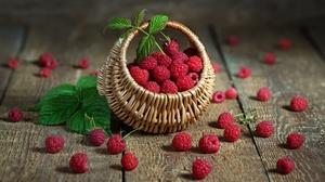 Basket Berry Fruit Raspberry Still Life 2000x1333 Wallpaper