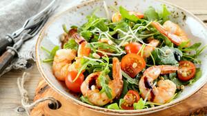 Food Salad Seafood Vegetables Tomatoes 1920x1080 Wallpaper