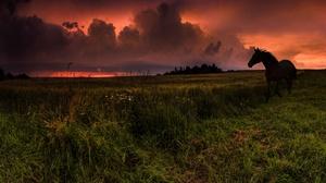 Sunset Cloud Silhouette 3500x1913 wallpaper
