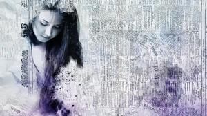 Ink Wash Paintings Women Artwork 4136x3010 wallpaper