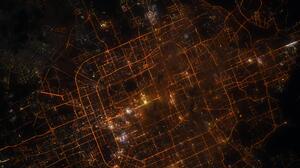 Beijing China Space Asia Night City Lights 5568x3712 Wallpaper