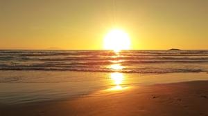 Africa Algiers Beach Horizon Sea Sunset Sunshine 4320x2432 Wallpaper