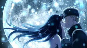 Anime Uzumaki Naruto Hyuuga Hinata Kissing 1920x1080 Wallpaper