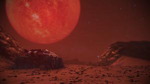 Mass Effect Legendary Edition Mass Effect Red Sun Mars Stars 3840x2160 Wallpaper
