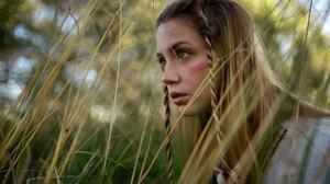 Ksenia Kokoreva Yuriy Lyamin Model Russian Looking Away Braids Blonde Women Outdoors 1800x1012 Wallpaper