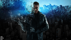 Terminator Arnold Schwarzenegger Cyborg Men Machine Science Fiction 1920x1080 Wallpaper