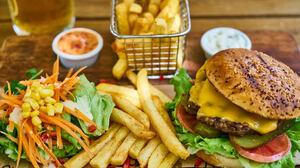 Burger French Fries Still Life 7477x4987 Wallpaper