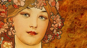 Traditional Artwork Women Alphonse Mucha Face 1440x900 wallpaper