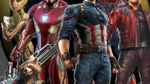 Avengers Infinity War Captain America Groot Iron Man Rocket Raccoon Spider Man Star Lord 1920x1700 Wallpaper