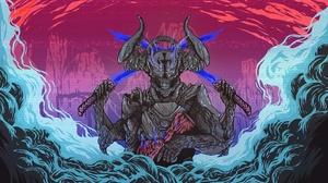Demon Horns Monster Sword 1920x1080 Wallpaper