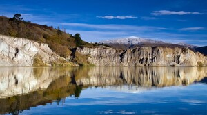 Lake Mountain Reflection Rock Scenic Water 1920x1200 wallpaper