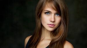 Women Brunette Blue Eyes Portrait Face Pavel Kuchik Eyebrows 2048x1287 Wallpaper