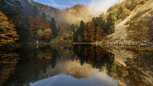 Nature Fall Water Reflection Landscape Trees 2000x1335 Wallpaper