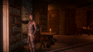 Dragon Age Inquisition Dragon Age Dorian Pavus Orange Books PC Gaming 2523x1427 wallpaper