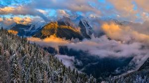 Winter Cloud Nature Landscape 2100x1230 wallpaper