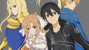 Anime Girls Sword Art Online Yuuki Asuna Kirigaya Kazuto Alice Zuberg Eugeo Anime Boys 2048x1699 Wallpaper