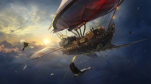 Sky Cloud Ship 1920x1080 wallpaper