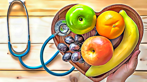 Artwork ArtStation Digital Art Fruit Bananas Apples Food Illustration Painting Drawing Stethoscope 2100x1500 Wallpaper