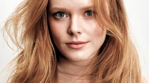 Abigail Cowen Women Actress Redhead Green Eyes Model Long Hair Women Indoors 1024x1280 Wallpaper