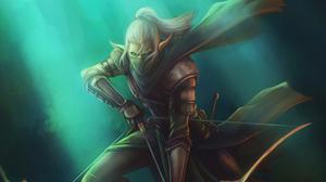 Archer Elf Warrior White Hair 3840x2160 Wallpaper