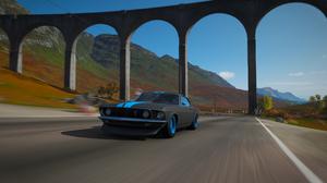 Forza Forza Horizon Forza Horizon 4 Ford Ford Mustang Viaduct Car Faster Video Games 3840x2160 wallpaper
