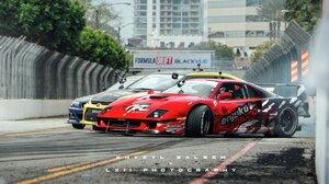Khyzyl Saleem Car Render Digital Art Formula Drift Racing Drifting Ferrari Ferrari F40 Widebody Pop  1600x862 Wallpaper