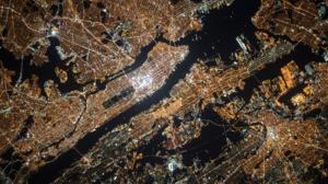 City Cityscape Lights Night Aerial Manhattan New York City USA 1920x1080 Wallpaper