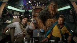 Bb 8 Chewbacca Lando Calrissian Millennium Falcon Poe Dameron 2400x1631 wallpaper