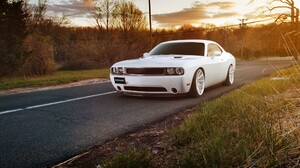 Dodge Muscle Car White Car 2095x1310 Wallpaper