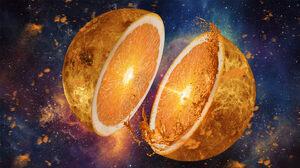 Space Orange Fruit Fruit 1920x1080 Wallpaper