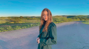 Model Sunlight Road Women Green Coat Coats Young Woman Women Outdoors 1920x1080 wallpaper