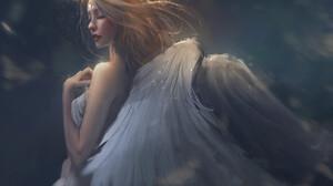 Artwork Fantasy Art Angel Wings Women Trungbui 1920x1695 Wallpaper