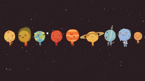 Cartoon Cute Planet Science 1680x1050 Wallpaper