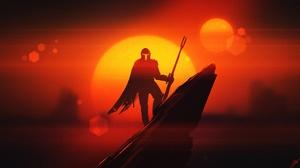 Star Wars Sunset The Mandalorian Character 2560x1440 Wallpaper