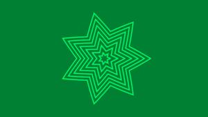 Kaleidoscope Digital Art Pattern Artistic Green 4250x2250 wallpaper