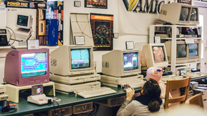Computer Video Games CRT Technology Console Children Women Amiga Vintage Commodore 2000x1125 Wallpaper