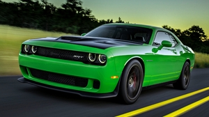 Dodge Challenger SRT Hellcat Car Green Car Dodge Dodge Challenger 3840x2160 Wallpaper