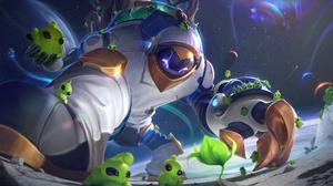 Astronaut Space Galaxy Maokai League Of Legends Maokai League Of Legends Riot Games Digital Art 4K 7680x4320 wallpaper