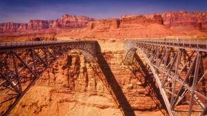 USA Landscape Nature Arizona Canyon Marble Canyon USA Bridge Rock Construction 3840x2160 Wallpaper