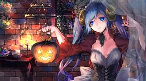 Vocaloid Hatsune Miku Anime Anime Girls Halloween 2312x1300 Wallpaper