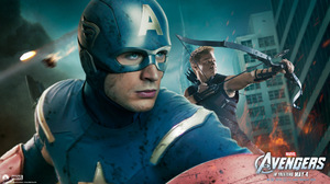 Avengers Captain America Chris Evans Hawkeye Jeremy Renner 1920x1080 Wallpaper