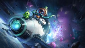 Astronaut ADC Adcarry Corki Corki League Of Legends League Of Legends Riot Games Digital Art Space G 7680x4320 wallpaper