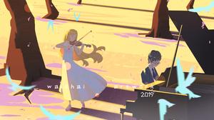Kaori Miyazono Kousei Arima 4759x2834 wallpaper