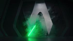 The Mandalorian Luke Skywalker Star Wars Darth Vader Jedi Lightsaber Dark Side Light Side Digital Ar 6880x2880 Wallpaper