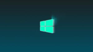 Microsoft Windows Neon Hologram Turquoise 2880x1620 Wallpaper