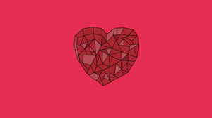 Crystal Heart Love Pink Red 8000x4500 wallpaper
