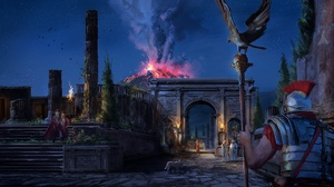 Night Volcano Eruption Pompeii 1920x1080 Wallpaper
