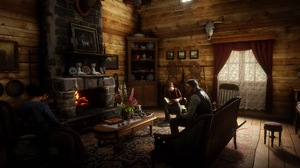 John Marston Red Dead Redemption 2 PlayStation 4 Gunslinger House Jack Marston Abigail Marston Firep 1920x1080 Wallpaper
